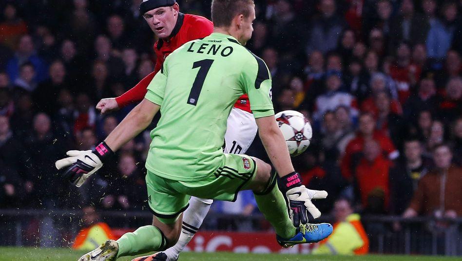 United-Stürmer Rooney, Bayer-Keeper Leno: Im Stich gelassen