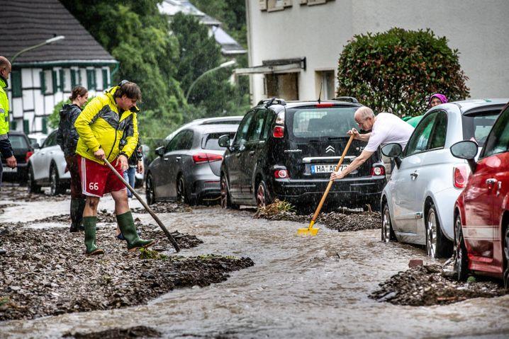 Kampf gegen das Wasser in Hagen