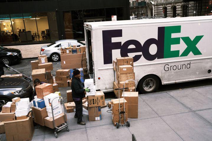 FedEx-Lieferwagen: Entlastung für die Unternehmen