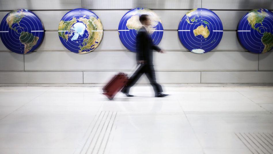Auf Achse: Mit Auslandserfahrung punktet man bei Bewerbungen wenig