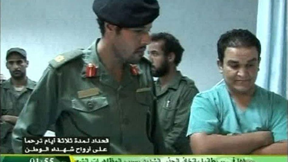 Aufnahme des libyschen Staats-TV: Besuch im Krankenhaus