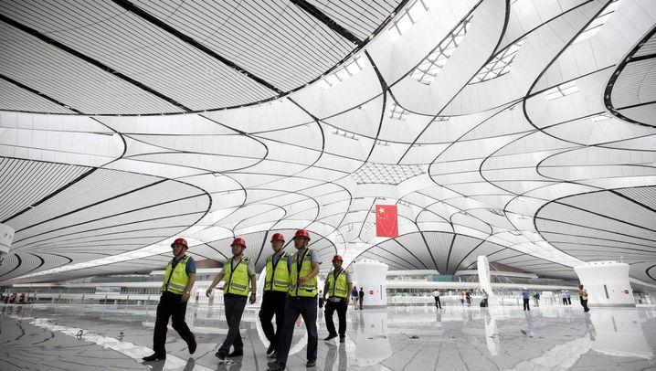 """Pekings neuer Flughafen: """"Seestern"""" der Superlative"""