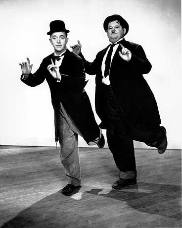 Zwei der bekanntesten Komiker des 20. Jahrhunderts: Stan Laurel und Oliver Hardy