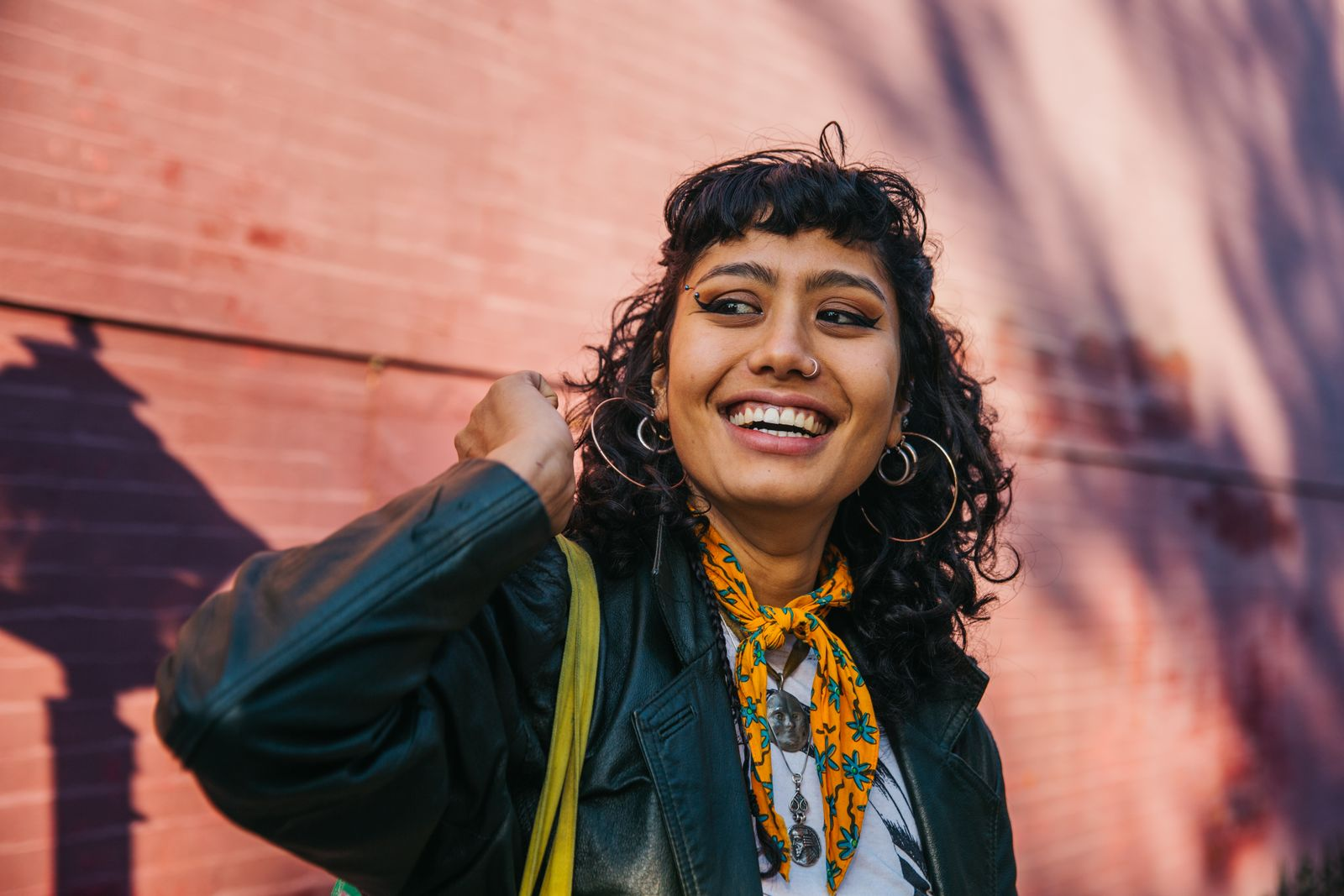 Young confident woman smiling