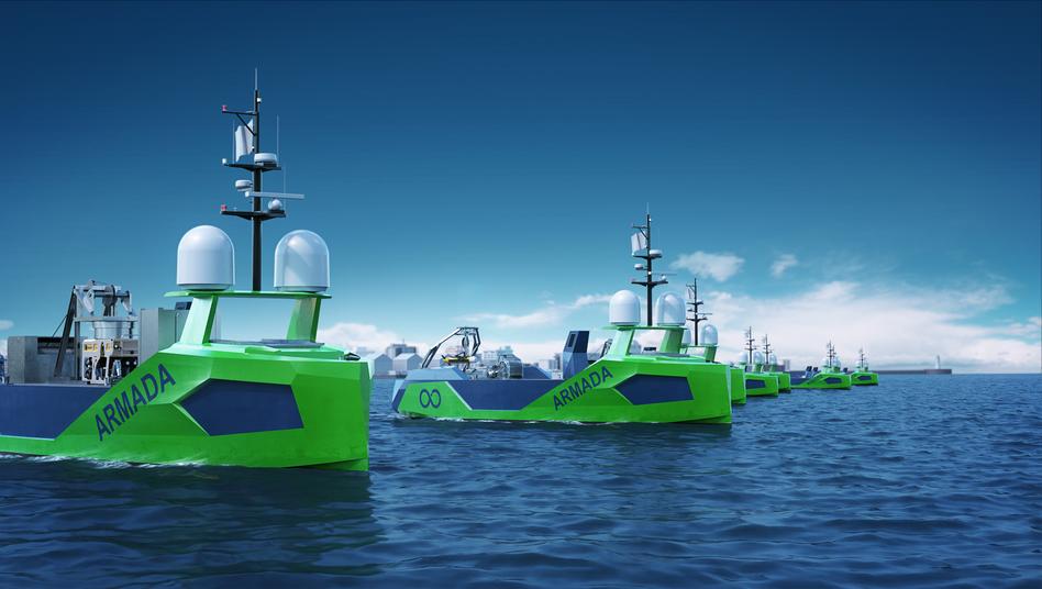 """So soll die """"Armada"""" der Roboterschiffe einmal aussehen"""