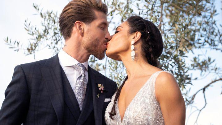 Sergio Ramos' Hochzeit in Sevilla: Real Madrid, die Beckhams, AC/DC