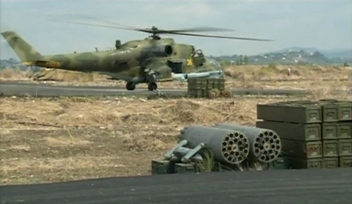 Russischer Hubschrauber in Syrien: Was will der Kreml?