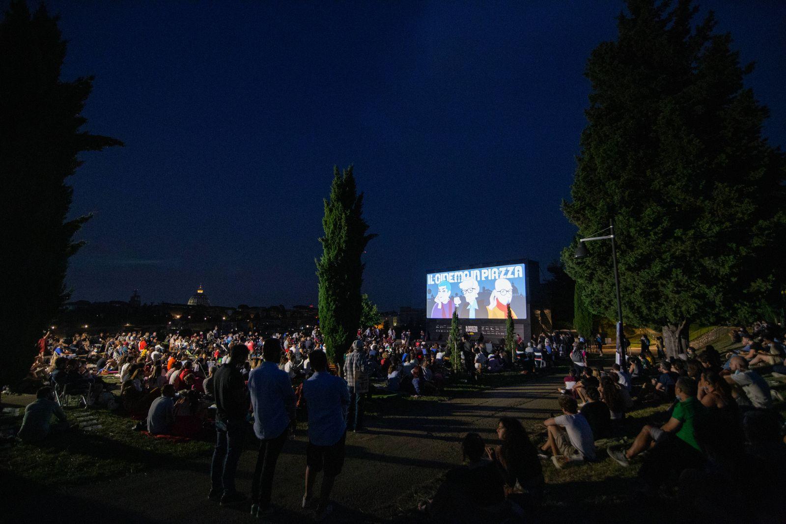 Italy: Carlo Verdone inaugurates Monte Ciocci cinema arena in Rome View of new cinema arena on Monte Ciocci in Rome Rome