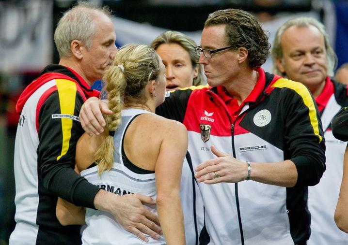 Dirk Dier (rechts) und Angelique Kerber kennen sich aus Fed-Cup-Zeiten