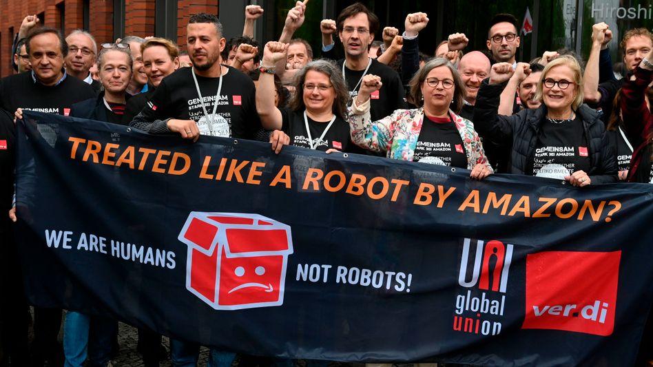 Amazon-Gewerkschafter in Berlin