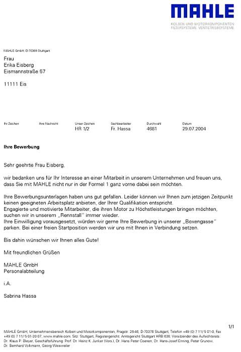 Bewerber Absagen Bitte Recht Freundlich Manager Magazin 14