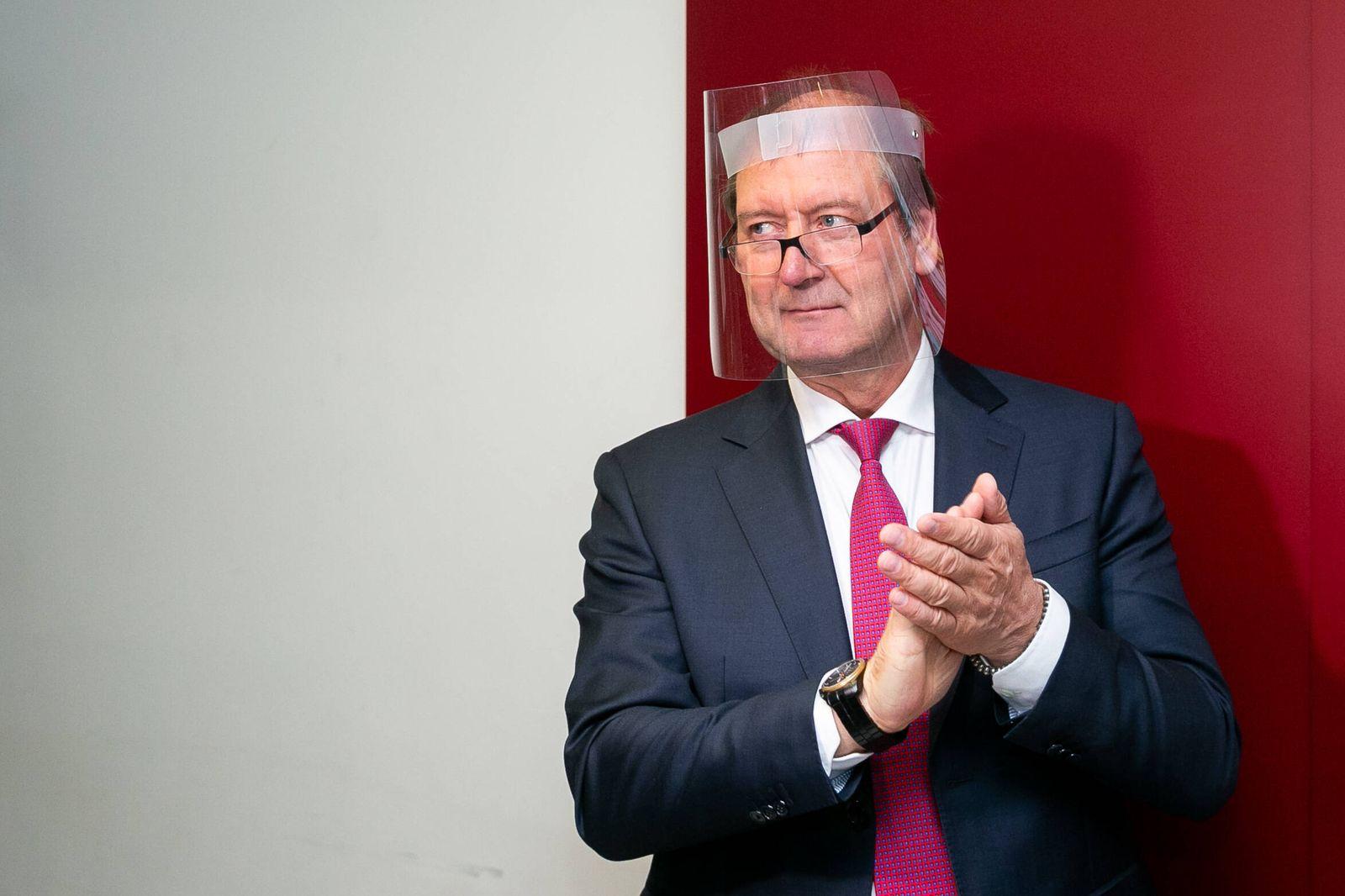 2020-10-07 Vilnius Lithuania. Labour Party leader Viktoras Uspaskichas (Viktor Uspaskich) arrives for early voting in L