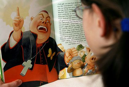 """Ein Kind liest in """"Wo bitte geht's zu Gott?, fragte das kleine Ferkel"""": Religionskritik auch weiterhin erlaubt"""