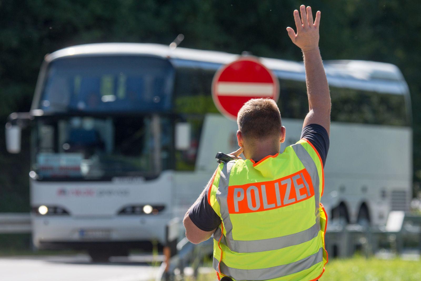 Grenzkontrollen an der Autobahn A 3