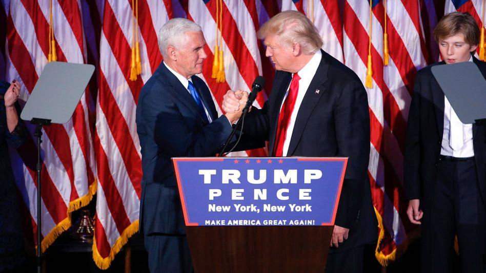 Künftiger Präsident Trump, Vize Pence