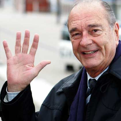 Frankreichs Präsident Chirac: Schon jetzt ein Stück Vergangenheit