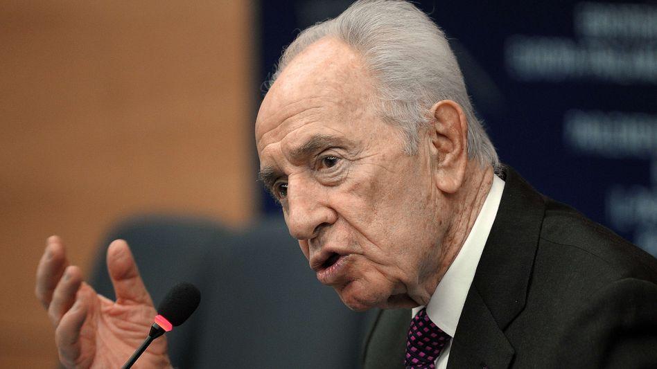 Präsident Peres: Syrische Tragödie beenden