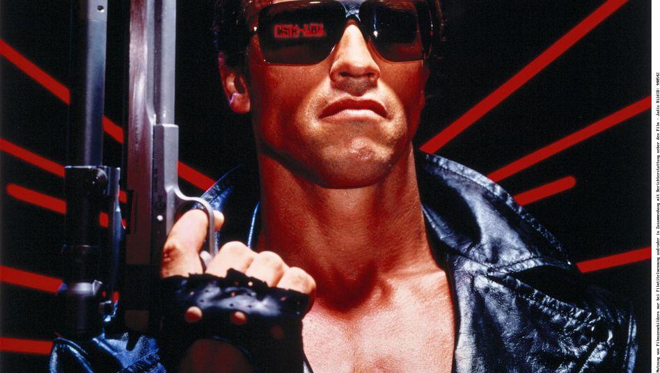 """Schwarzenegger bei seinem ersten """"Terminator""""-Auftritt 1984: """"I'll be back!"""""""