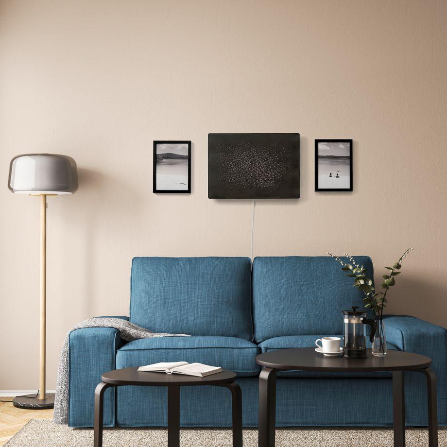 Der Symfonisk Rahmen in einem typischen Ikea-Umfeld