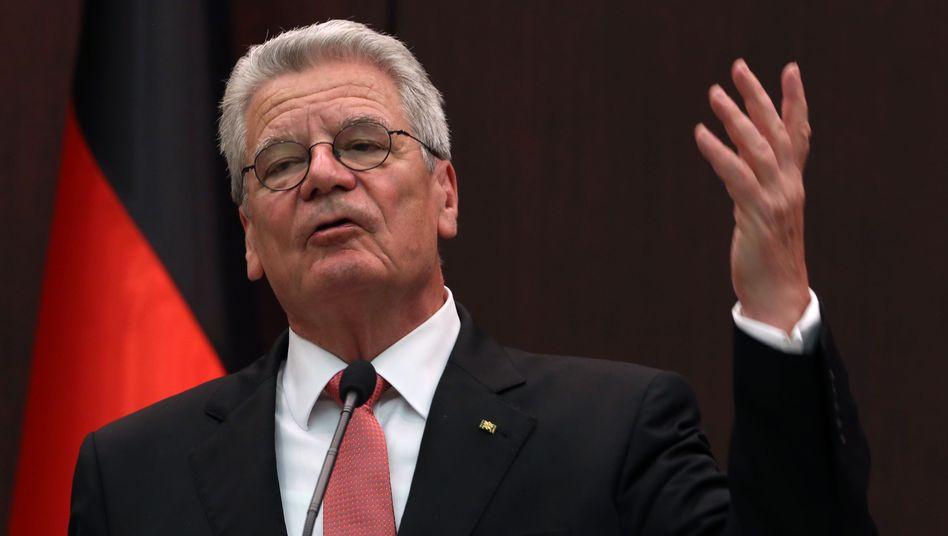Bundespräsident Gauck: Nicht zwangsläufig neutral