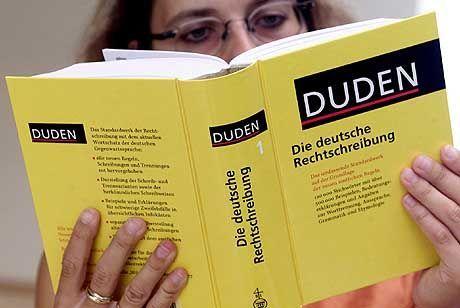 Viele Wörter stehen im Wörterbuch