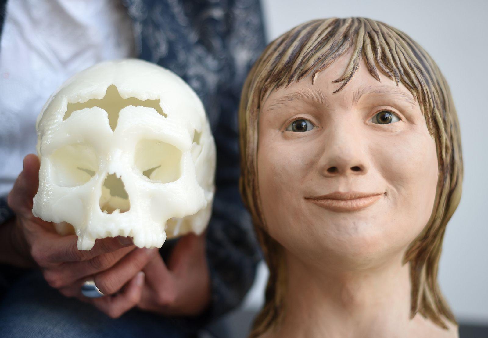 PK zur Gesichtsrekonstruktion eines 5000 Jahre alten Schädels