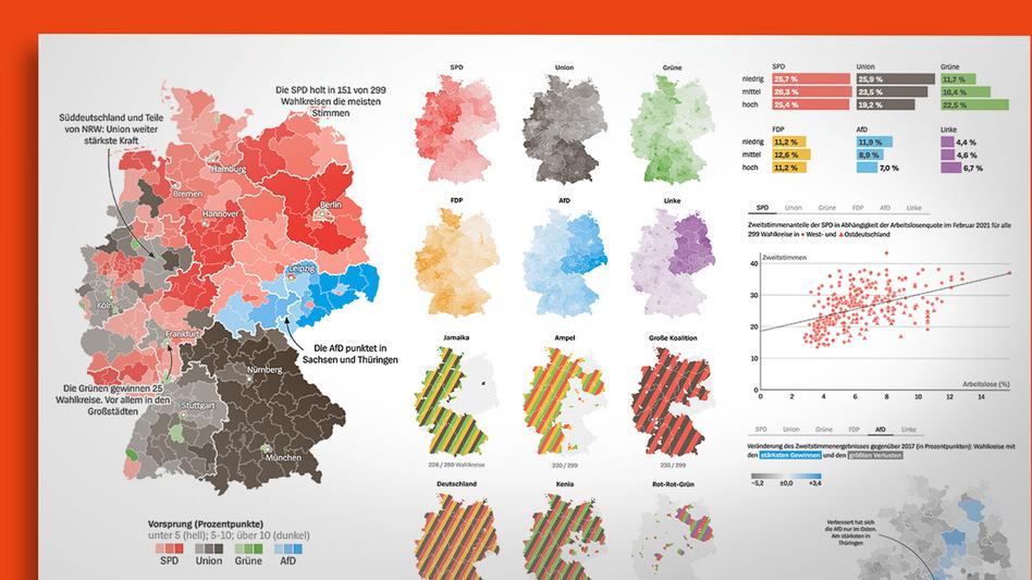 Die Wahlergebnisse in Karten und Grafiken