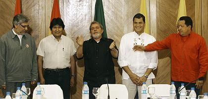 Staatschefs Lugo, Morales, Lula, Correa, Chávez: Vorkämpfer einer neuen Weltordnung