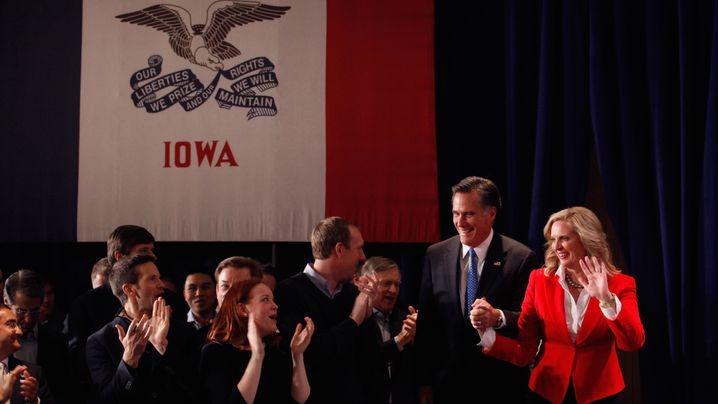 Iowa: Romney zittert sich zum Sieg