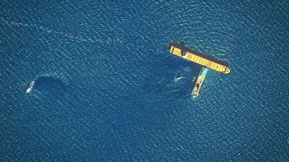 Satellitenbild der Unfallstelle