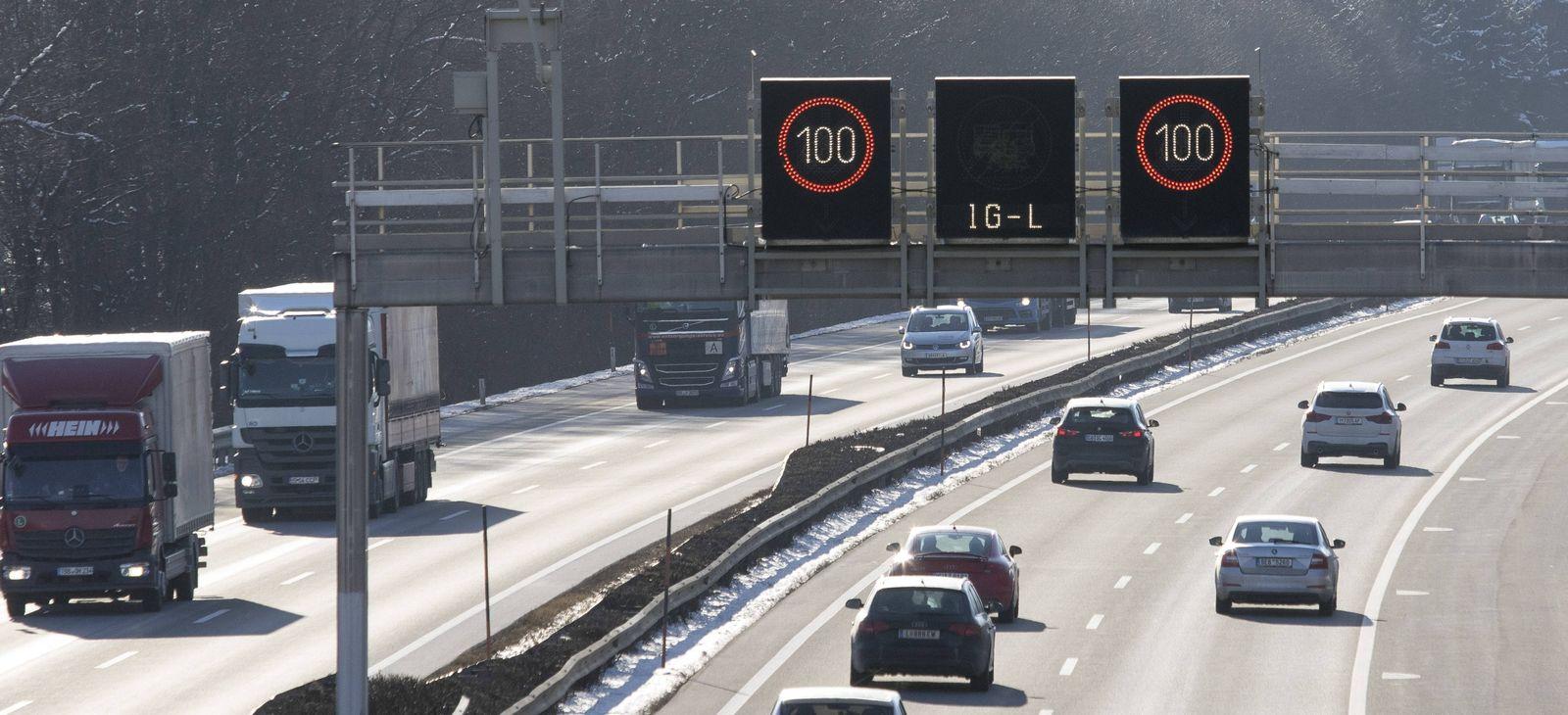 EINMALIGE VERWENDUNG Autobahn / Österreich