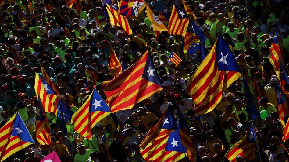 Separatisten in Barcelona (Archivbild)