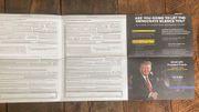 Wahlwerbung von Trump enthält Briefwahlantrag