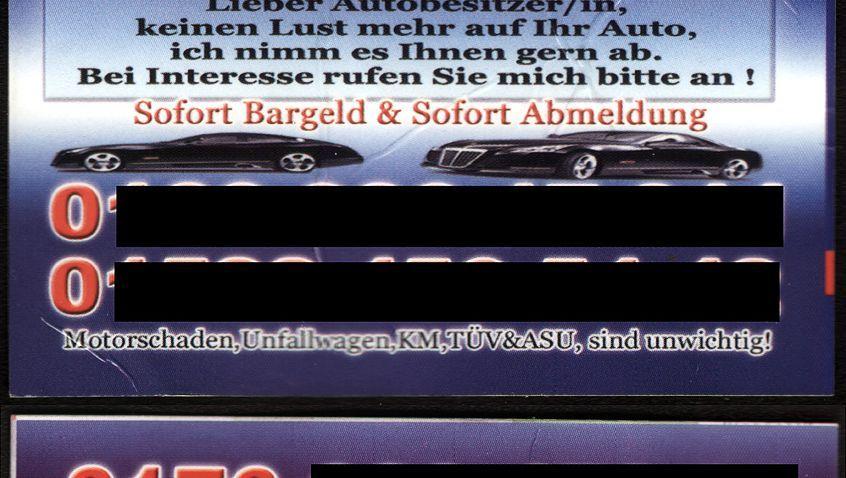 Autohändler-Kärtchen: Bei Verkaufspreisen unter 1000 Euro kann sich das Geschäft lohnen
