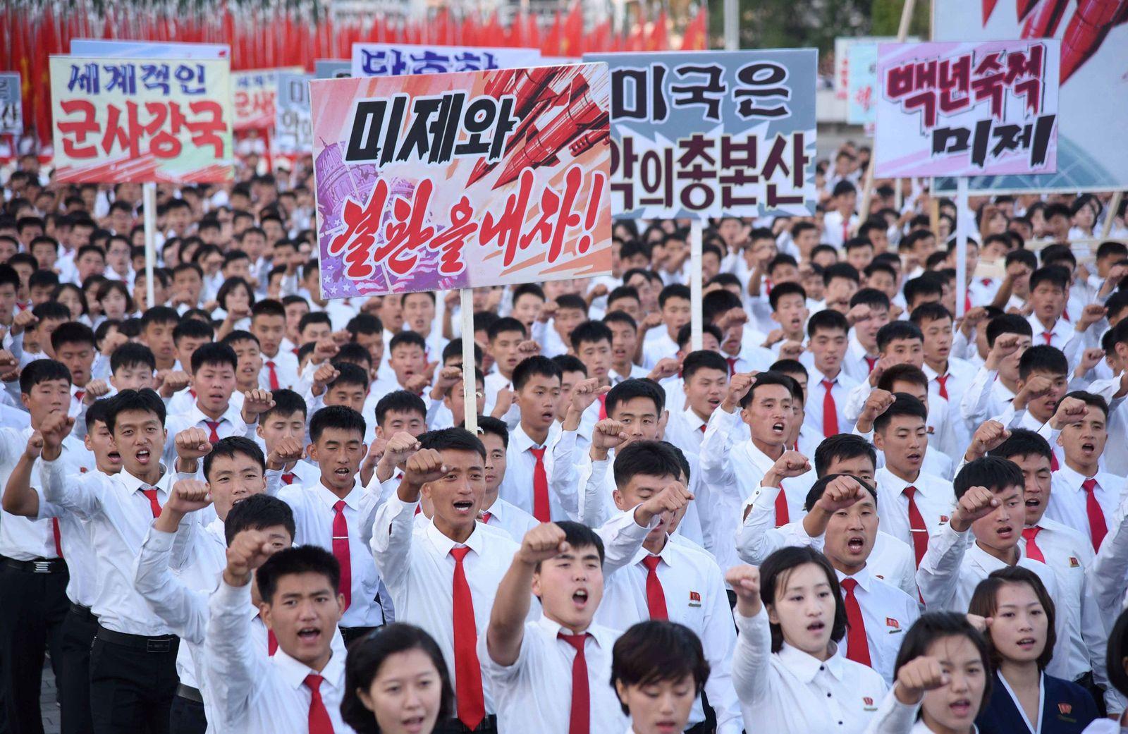 Nordkorea Kundgebung