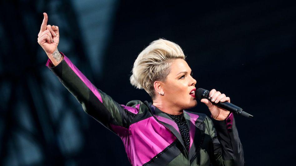 US-Sängerin Pink (Archivbild): »Ich bin sehr stolz auf die norwegischen Beachhandballerinnen«