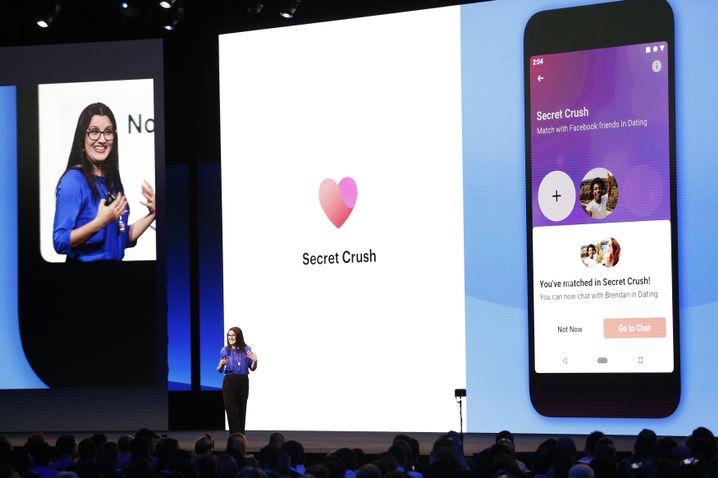 Facebook-Managerin Fidji Simo stellt die neue Dating-Funktion vor.