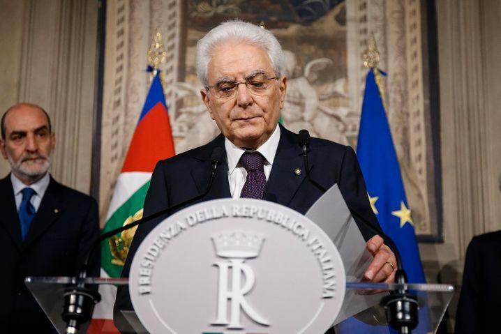 Staatspräsident Mattarella: Konsultationen mit den Partei- und Fraktionschefs