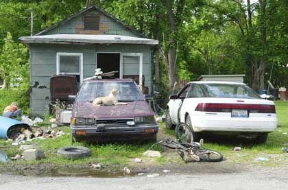 Armut in den USA: Eine Behausung in Urbandale (Bundesstaat Illinois)
