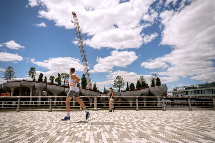 Postpandemischer Reboot: Jogger am New Yorker Hudson-Ufer