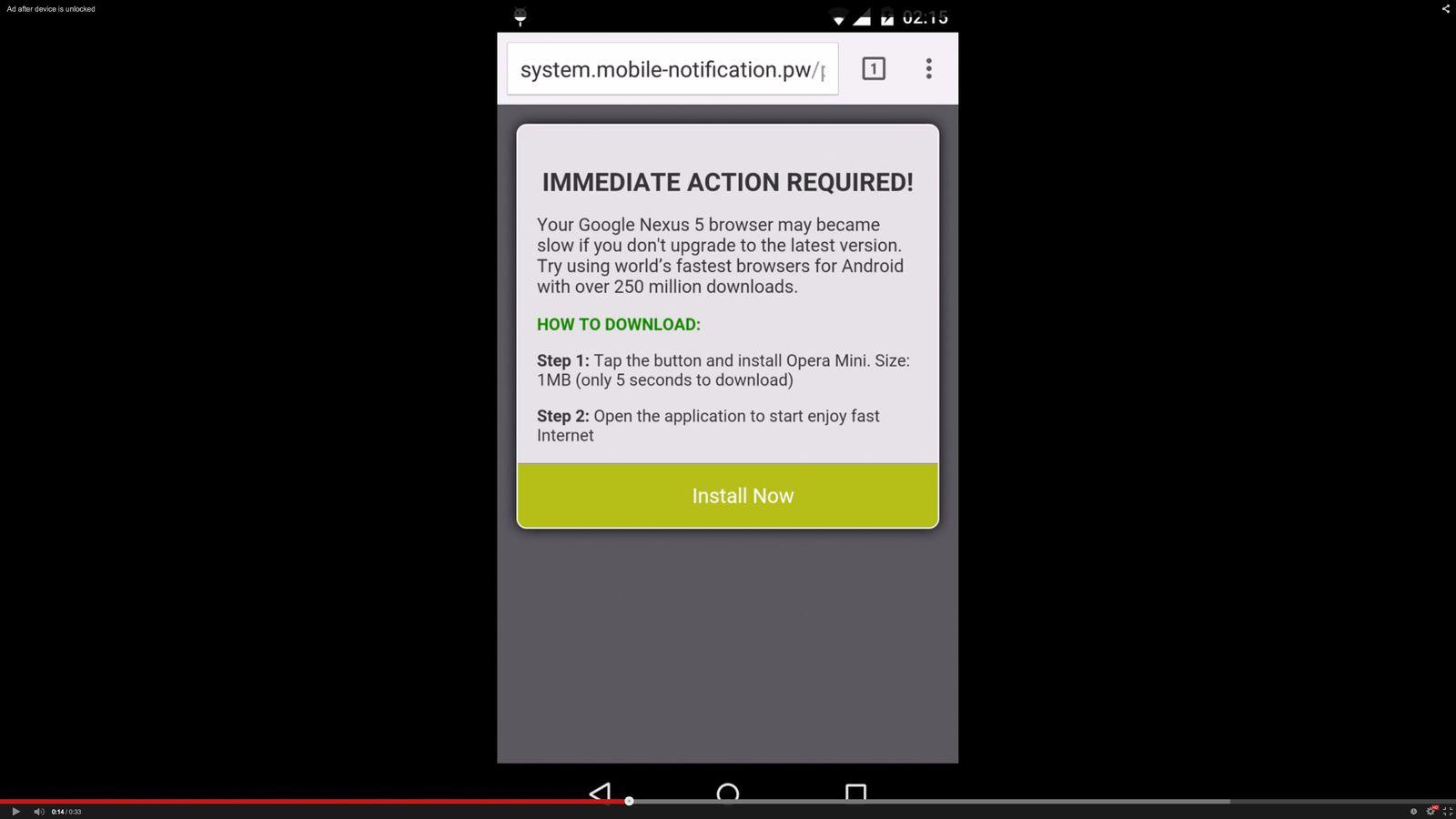 NUR ALS ZITAT Screenshot/ Avast/ Android Adware