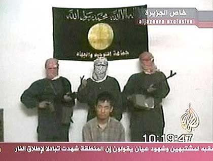 Al-Dschasira strahlte das Band der Entführer aus
