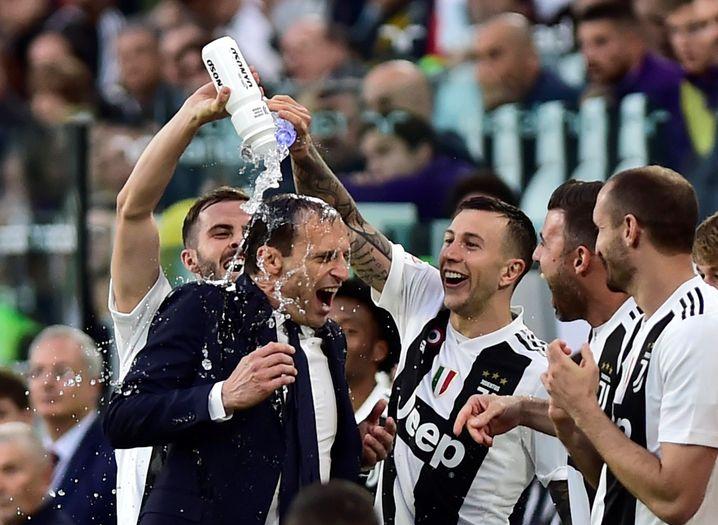 Massimiliano Allegri bei der Meisterfeier 2019