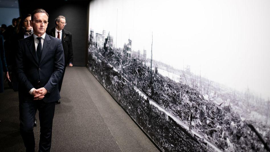 """Außenminister Heiko Maas (SPD) in Hiroshima: """"Für eine friedliche Welt ohne Atomwaffen"""""""