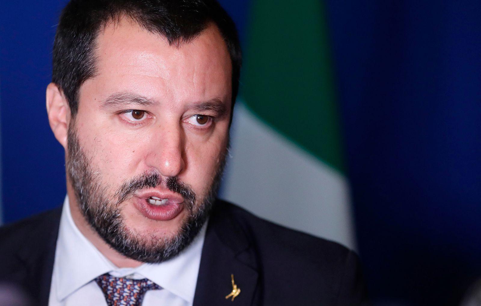 EINMALIGE VERWENDUNG Matteo Salvini