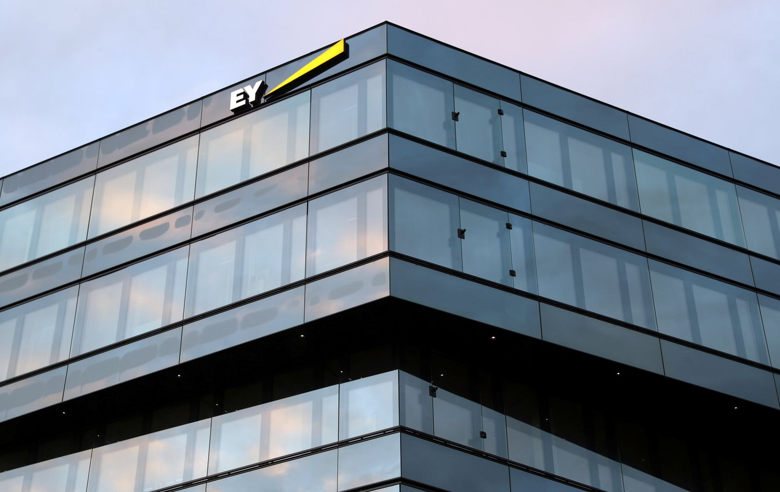 Logo of of Ernst & Young is seen in Zurich