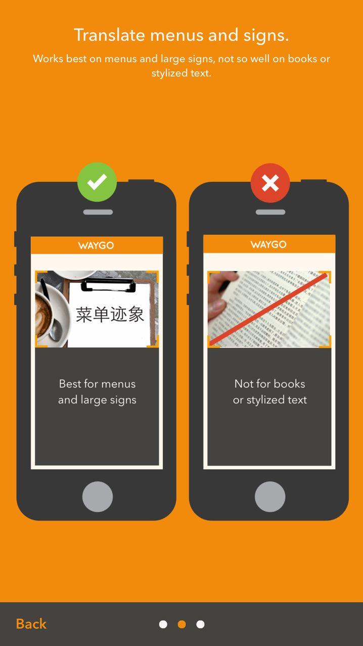 Benutzungshinweis zur Waygo-App