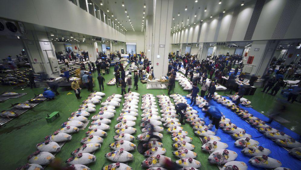 Neuer Fischmarkt in Tokio: Der erste Gong ertönt