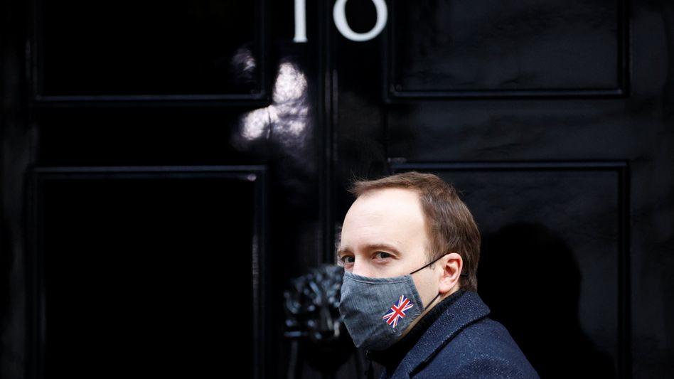 Gesundheitsminister Matt Hancock in der Downing Street