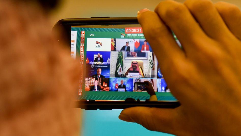 Eröffnung des G20-Treffens: pandemiebedingter Online-Gipfel